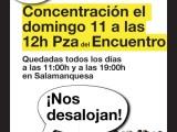 APOYO Y DIFUSIÓN: DESALOJO E.S.A. SALAMANQUESA(MORATALAZ)