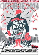 Sabado 25 de Octubre, 17:30 Charla – debate: La lucha contra la represión, la represión contra la lucha. GIRA ANTIRREPRESIVA PENINSULAR OCTUBRE2014