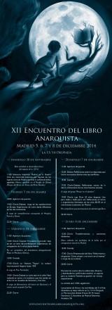 [5, 6,7 y 8 de Diciembre] XII Encuentro del libro Anarquista deMadrid.