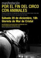 [Sabado 20 de Diciembre] Manifestación por el fin del circo conanimales.