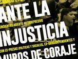 Ante la injusticia. Muros de coraje. Jornadas Antirrepresivas de Antiguas presas, políticas y sociales; y acompañantes de presxs enlucha.